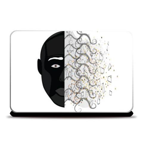 Abstract face skin Laptop Skins | Artist : vazir singh