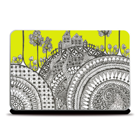 Laptop Skins, Hill Top Laptop Skin | Artist: Surabhi Kuthiala, - PosterGully