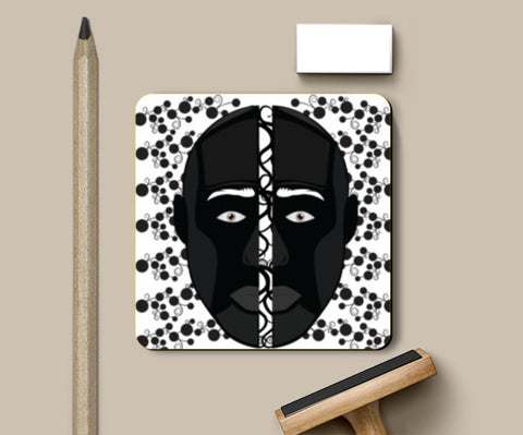 PosterGully Coasters, Black face Coster Coasters | Artist : vazir singh, - PosterGully