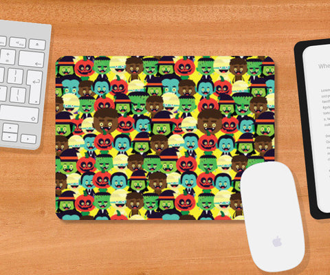 Mousepad, HALLOWEEN MONSTERS Mousepad | Mona Singh, - PosterGully