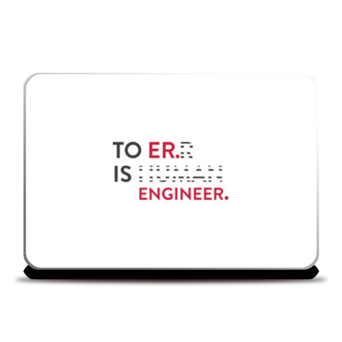 To Er. Is Engineer. Laptop Skins | Artist : Minimal