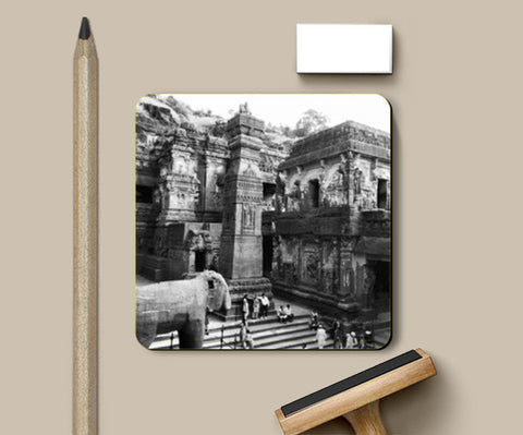 Coasters, #Ellora Caves World Heritage Site Coasters | Artist : Yagneswar, - PosterGully