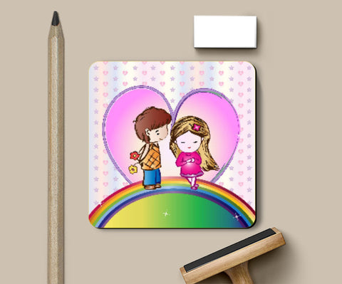Coasters, Cute Love Coaster | Madhumita Mukherjee, - PosterGully