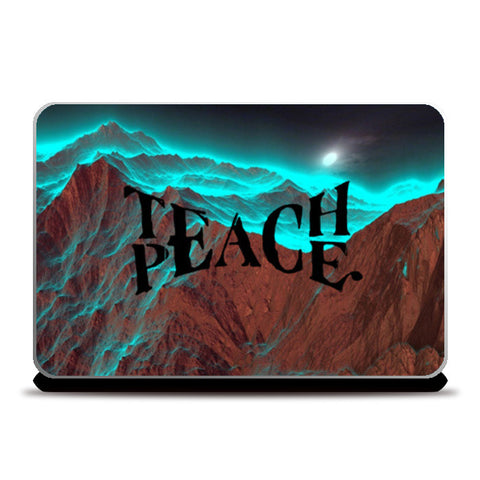 Teach Peace Skin Laptop Skins | Artist : Navdeep Sharma