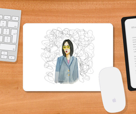 Thought Burst Mousepad | Artist : Fashion Lover