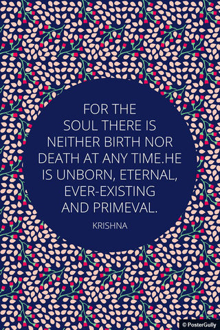 Wall Art, Existing & Primeval Quote Krishna | Bhagavad Gita, - PosterGully - 1
