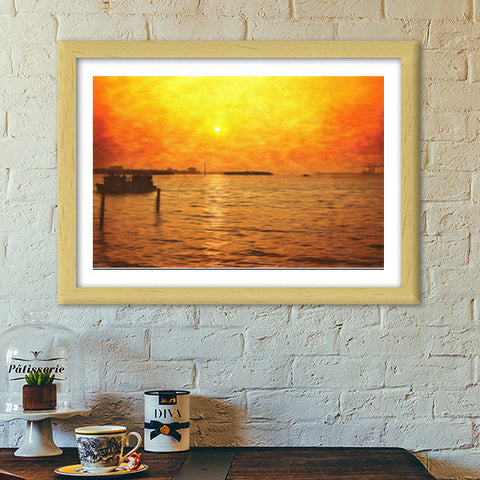 The journey back Premium Italian Wooden Frames | Artist : Anil Kumar K