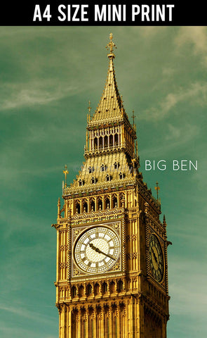 Mini Prints, Big Ben Tower SKy | London | Mini Print, - PosterGully