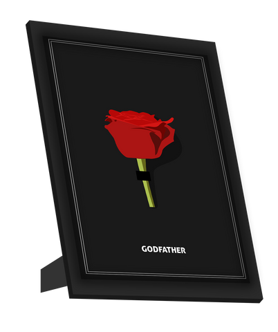 Framed Art, Godfather | Minimal Red Rose Framed Art, - PosterGully