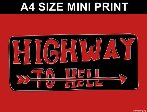 Mini Prints, Highway To Hell | Pop Color | Mini Print, - PosterGully