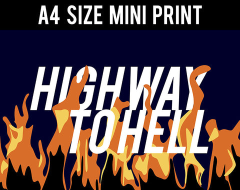 Mini Prints, Highway To Hell | AC/DC | Mini Print, - PosterGully