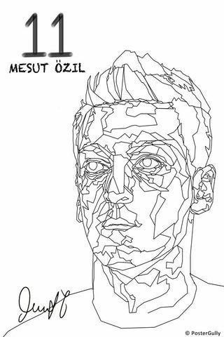 Wall Art, Ozil Art BW, - PosterGully