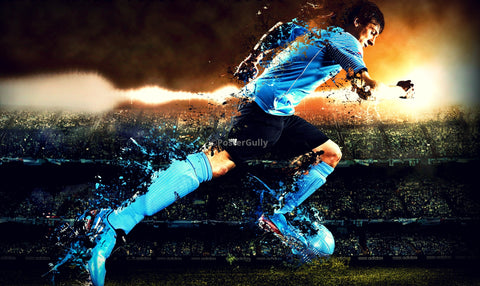 Wall Art, Speeding Lionel Messi, - PosterGully