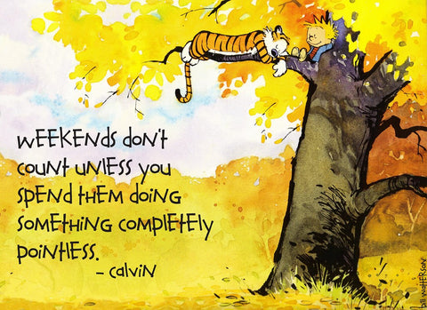 PosterGully Specials, Calvin Hobbes | Weekends Quote, - PosterGully