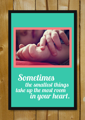 Glass Framed Posters, Smallest Things Baby Glass Framed Poster, - PosterGully - 1