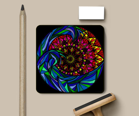 PosterGully Coasters, The Mandala Wave Coasters | Artist : Gursimran Kaur, - PosterGully