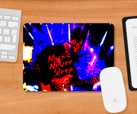 Mousepad, Music Never Sleep Mousepad | Boys Theory, - PosterGully