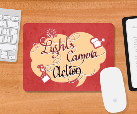 Mousepad, Lights Camera Action Mousepad | Artist: Pushkar Priyadarshi, - PosterGully