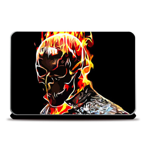 Laptop Skins, Ghost Rider Laptop Skins | Artist : Delusion, - PosterGully