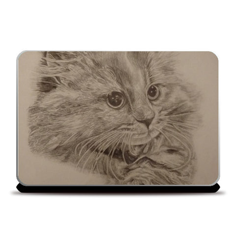 Cat sketch: Laptop skin Laptop Skins | Artist : Aibileen Finch