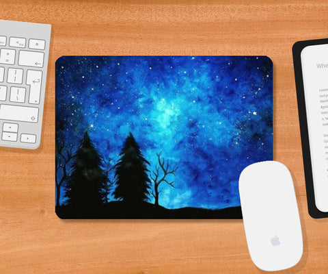 Starry Night sky Mousepad | Artist : Zeenat Kaisher