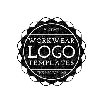 Vintage Workwear Logo Templates for Photoshop and Illustrator