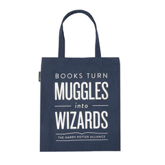 Books Turn Muggles into Wizards Tote Bag - Calgary Public Library Store