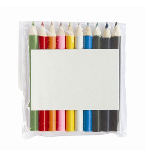 10 pack colouring pencils - Promotional Products