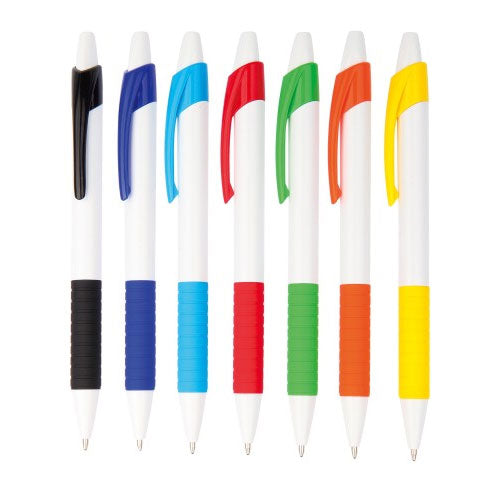 Arc Plastic Pen with Rubberised Grip - Promotional Products