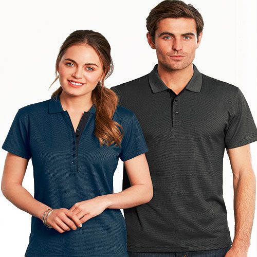 Phillip Bay Tonal Stripe Polo Shirt - Corporate Clothing