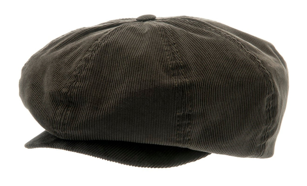 Newsboy cap - Olle Sr. Soft cord Olive - CTH Ericson