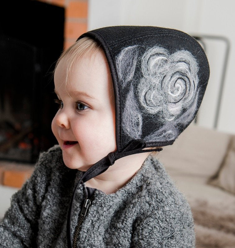 Bonnet - Emma Jr. Folklore Black/Grey - CTH MINI