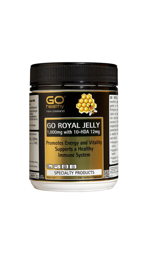 GO Royal Jelly 1,000mg  with 10-HDA 12mg 180 SoftGel Capsules