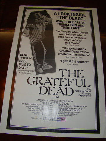 GRATEFUL DEAD MOVIE - ORIGINAL 1977 THEATER POSTER