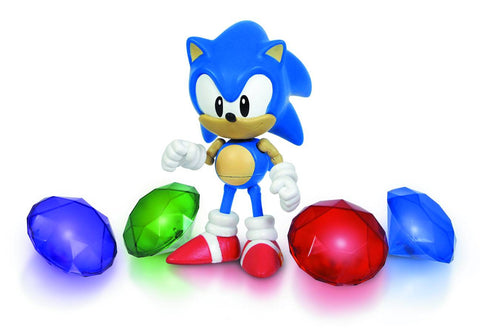 Sonic The Hedgehog Light Up Chaos Emeralds Action Figure