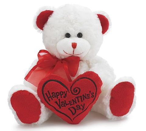 Happy Valentines Day Bear with Heart Plush Toy