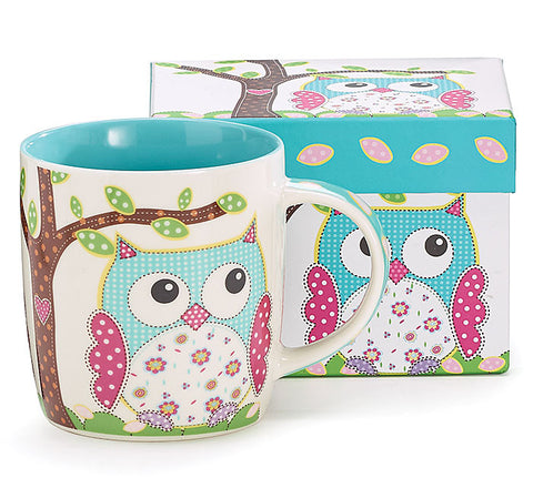 Owl Under The Tree Ceramic Mug