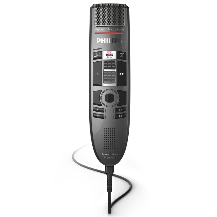 Philips SMP3710 SpeechMike Premium Touch with SpeechExec Pro Dictate v10 Software - Speech Products
