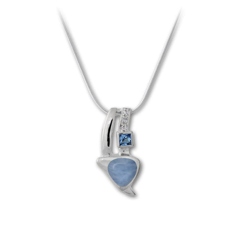 Curva Larimar Necklace - Call for Pricing