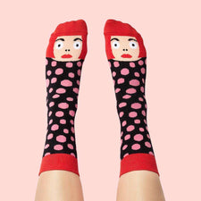 Art socks with illustrated characters - Yayoi Toesama