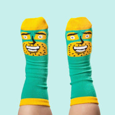 Cool socks for kids - Commander Awesome Jr by ChattyFeet
