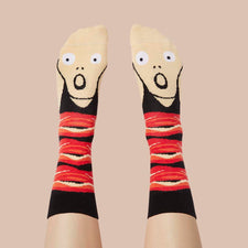 Gift for aspiring artists - Funky socks- Screamy Ed