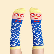 Illustrated art socks for kids - David Sock-Knee