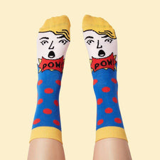 Art socks - Funky illustrated character - Roy