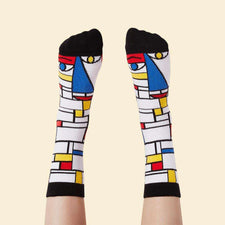 Art socks for kids - Feet Mondrian character design