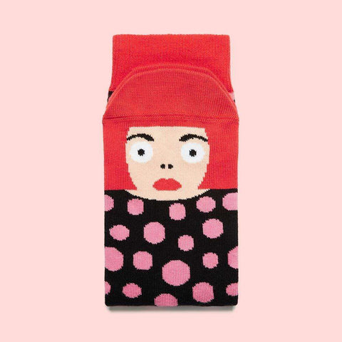 Funky socks for art lovers - Yayoi Toesama design