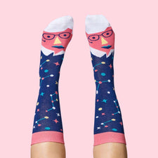 Funny socks for science lovers - Stephen Toeking