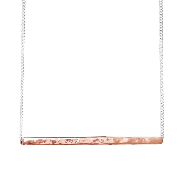 Rock Finders Keepers | Alexis Hammered Bar Necklace - Rose | VOULT.COM.AU