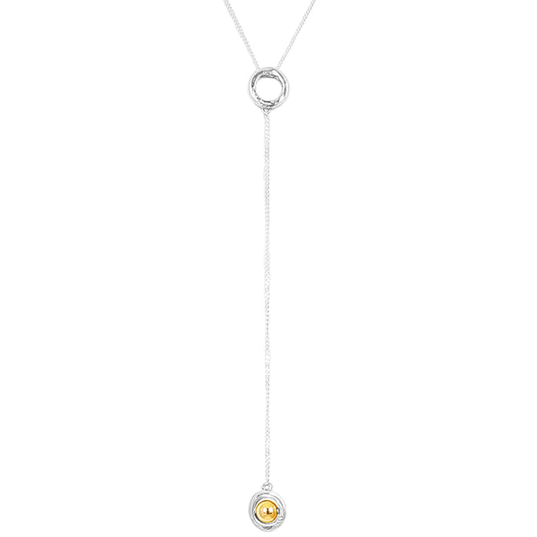 Rock Finders Keepers | Atticus Fine Charm Lariet Necklace - Polished Gold Detail | VOULT.COM.AU