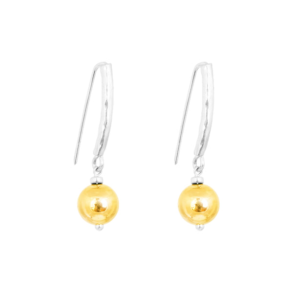 Rock Finders Keepers | Catia Statement Hook Earrings | Polished Gold Detail | VOULT.COM.AU